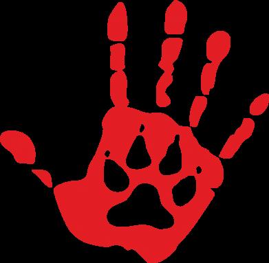 Принт Килимок для миші Рука вовка - FatLine