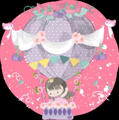 Принт Мужская толстовка Принцесса на воздушном шаре, Фото № 1 - FatLine
