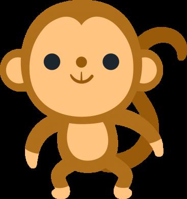 Принт Жіноча футболка Colored monkey, Фото № 1 - FatLine