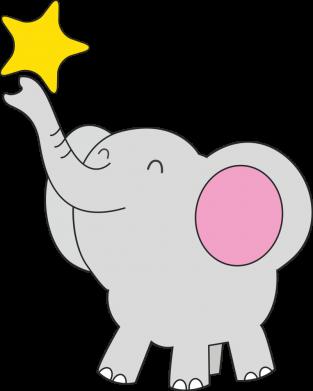 Принт Жіноча футболка Слон із зірочкою, Фото № 1 - FatLine
