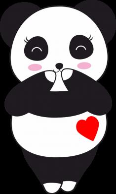 Принт Жіноча футболка Cute panda, Фото № 1 - FatLine