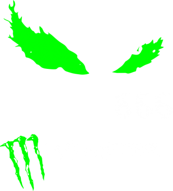 Принт Футболка Поло Monster Energy Eyes 666 - FatLine