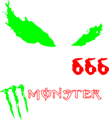 Принт Подушка Monster Energy Eyes 666 - FatLine