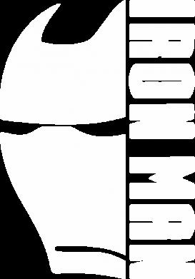 Принт Жіноча футболка Iron Man face and logo, Фото № 1 - FatLine