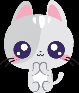 Принт Жіноча футболка Cute cat with big eyes, Фото № 1 - FatLine