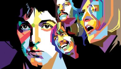 Принт Реглан The Beatles Art - FatLine
