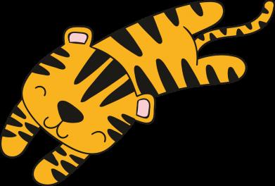 Принт Женская футболка Little striped tiger, Фото № 1 - FatLine
