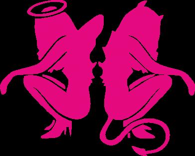 Принт Подушка Ангел и Демон - FatLine