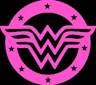 Принт Женская футболка Wonder woman logo and stars, Фото № 1 - FatLine