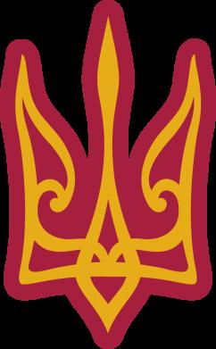 Принт Жіноча футболка Ukrainian trident with contour, Фото № 1 - FatLine