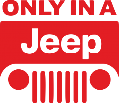 Принт Слюнявчик  Only in a Jeep - FatLine