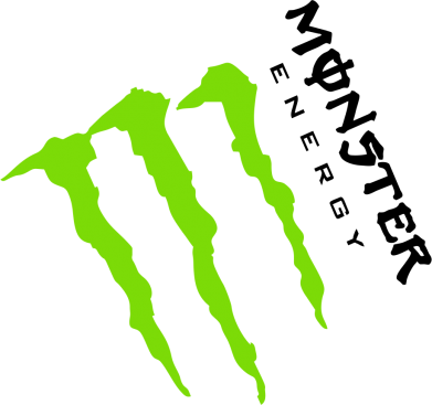 Принт Фартук Monster Energy под наклоном - FatLine