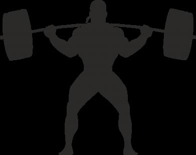 Принт Женская футболка Спортсмен со штангой - FatLine