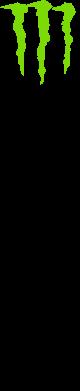 Принт Фартук Вертикальный Monster Energy - FatLine