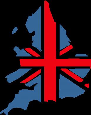 Принт Женская футболка с V-образным вырезом Флаг Англии - FatLine