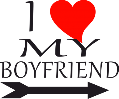 Принт Подушка I love my boyfriend - FatLine