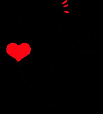Принт Женская футболка с V-образным вырезом Our love story - FatLine
