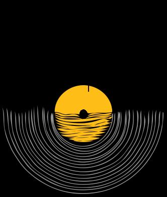 Принт Мужская футболка  с V-образным вырезом Пластинка - FatLine