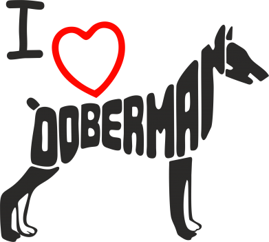Принт Футболка Поло I love doberman - FatLine