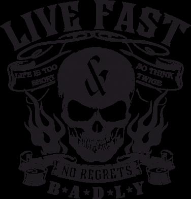 Принт Коврик для мыши Live Fast - FatLine