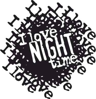 Принт Штаны I love night time - FatLine