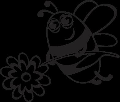 Принт Майка-тельняшка Добрая пчелка - FatLine