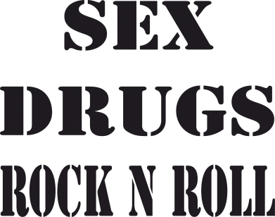 Принт Штаны Sex, drugs, rock n roll - FatLine