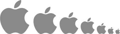 Принт Подушка Apple Evolution - FatLine