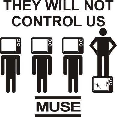 Принт Фартук MUSE They will not control us - FatLine
