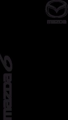 Принт Мужская футболка  с V-образным вырезом Mazda 6 vert - FatLine