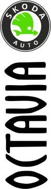 Принт Мужская футболка  с V-образным вырезом Skoda Octavia - FatLine