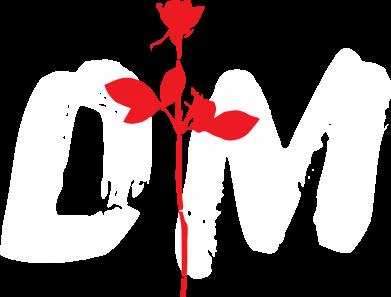Принт Мужская футболка  с V-образным вырезом depeche mode logo - FatLine