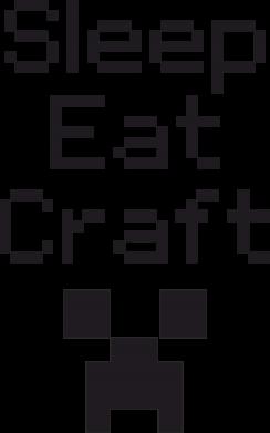 Принт Женская футболка Sleep,eat, craft - FatLine