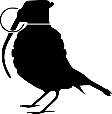 Принт Кепка-тракер Птичка с гранатой - FatLine
