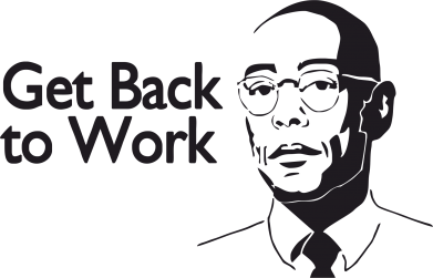 Принт Футболка Поло Get Back To Work - FatLine