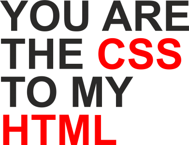 Принт Фартук You are CSS to my HTML - FatLine