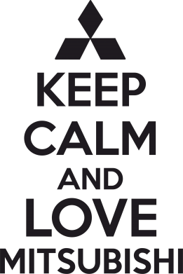 Принт Сумка Keep calm an love mitsubishi - FatLine