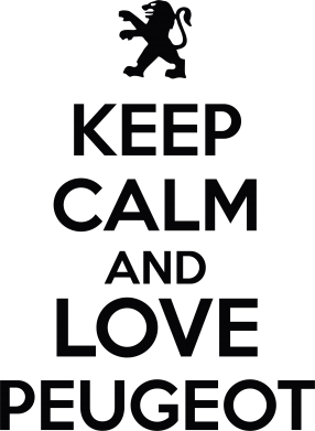 Принт Сумка Keep calm an love peugeot - FatLine