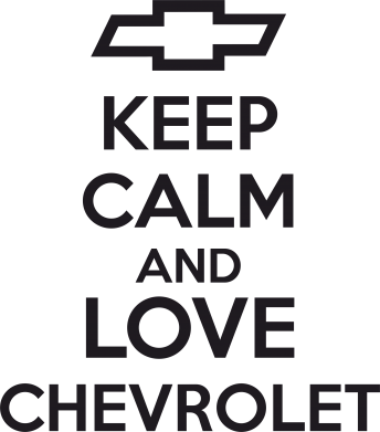 Принт Подушка KEEP CALM AND LOVE CHEVROLET - FatLine