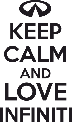 Принт Фартук KEEP CALM and LOVE INFINITI - FatLine