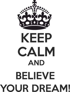 Принт Мужская майка KEEP CALM and BELIVE YOUR DREAM - FatLine