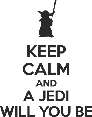 Принт Фартук KEEP CALM and Jedi will you be - FatLine