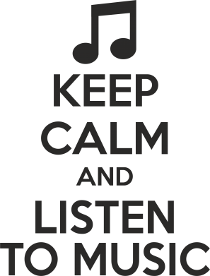 Принт Фартук KEEP CALM and LISTEN TO MUSIC - FatLine