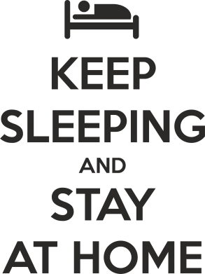 Принт Фартук Keep sleeping and stay at home - FatLine