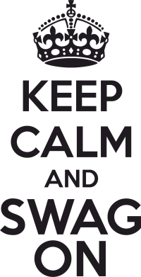 Принт Футболка KEEP CALM and SWAG ON - FatLine