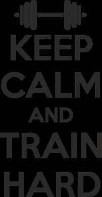 Принт Женская футболка поло KEEP CALM and TRAIN HARD - FatLine