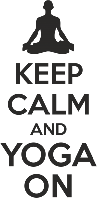 Принт Подушка KEEP CALM and YOGA ON - FatLine