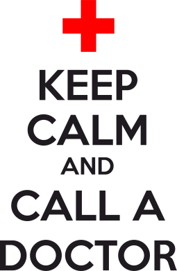 Принт Фартук KEEP CALM and CALL A DOCTOR - FatLine
