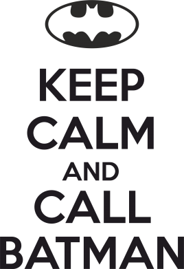 Принт Кружка 320ml KEEP CALM and CALL BATMAN - FatLine
