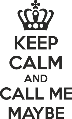 Принт Кружка 320ml KEEP CALM and CALL ME MAYBE - FatLine